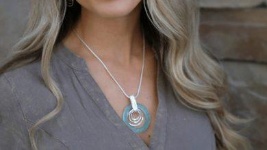 تصویر ۲۲ مدل گردنبند نقره زنانه مناسب هدیه با قیمت روز و خرید اینترنتی