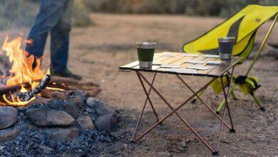 تصویر میز سفری: بهترین میزهای کمپینگ تاشو و سبک با خرید اینترنتی