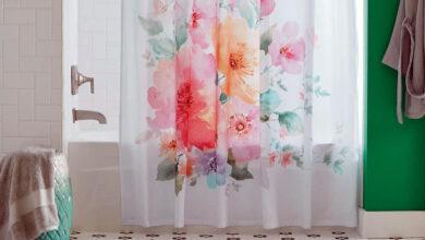 تصویر پرده حمام: بهترین پردههای حمام با خرید اینترنتی